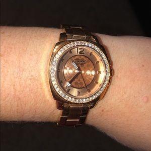 Coach rose gold watch